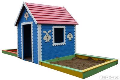 Детская песочница домик своими руками