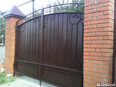 Ворота с калиткой эконом класса установить забор на даче цена