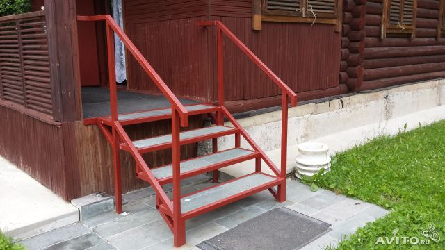 Лестница из металла своими руками для крыльца 34