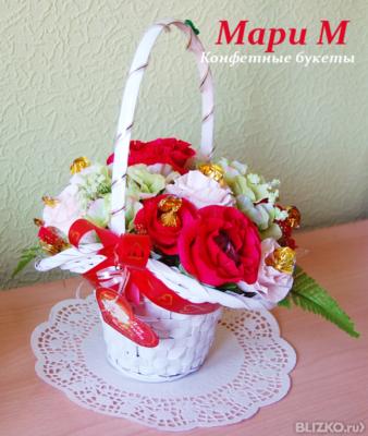 Заказать букет из конфет самара доставка цветов г пушкин спб