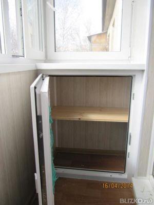 Установка тумбы с пластиковой дверью на балкон в самаре. цен.
