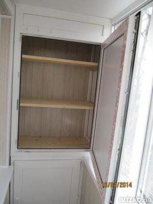 Фото работ по установке шкафов и тумб на лоджиях и балконах.