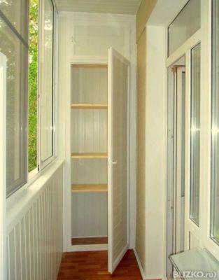 Обустройство балкона шкафами в самаре. цена товара от 1 дог..