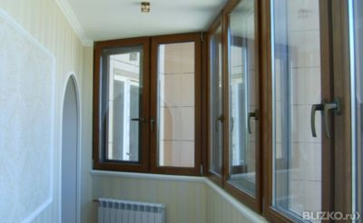 Теплое остекление балконов с трех сторон 3000х1500 мм в сама.