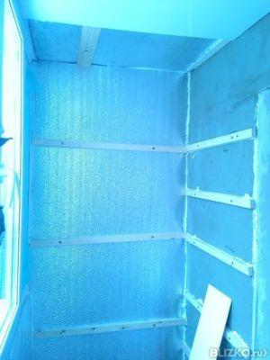 """Утепление полукруглого балкона """"бочка"""" от компании алькор-ст."""