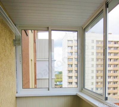 Теплое остекление балкона с 2-х сторон профиль rehau фурниту.