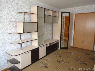 Мебельная стенка для гостиной, бежевый, стекло и зеркало с р.
