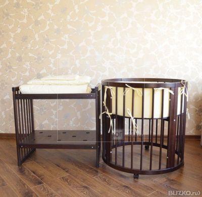 Круглая кроватка дрема