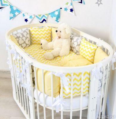 Бортики своими руками на овальную кроватку для новорожденных